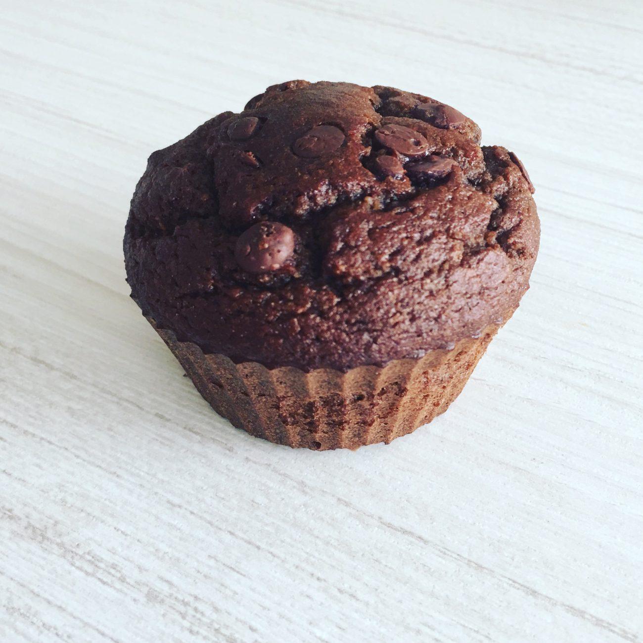 Choco muffins con harina de almendras