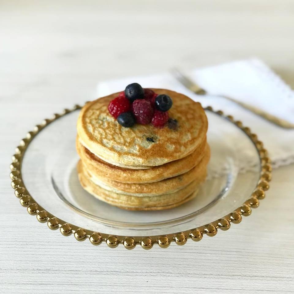 Pancakes de arandanos y chia